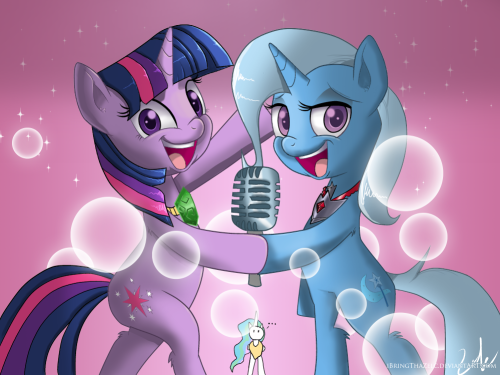 "theponyartcollection:  Magic Duet by =iBringThaZelc  as good as ""Magic Duel"" was this would probably be an even better episode"