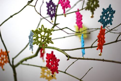 diychristmascrafts:  DIY Crochet Snowflakes Ornaments Tutorial and Pattern from According to Matt here.