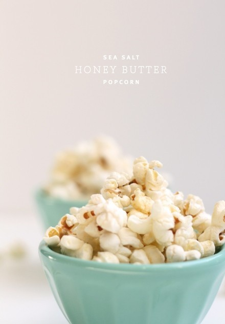 This is too good not to make a double daily yum: Sea Salt Honey Butter Popcorn via The Faux Martha!