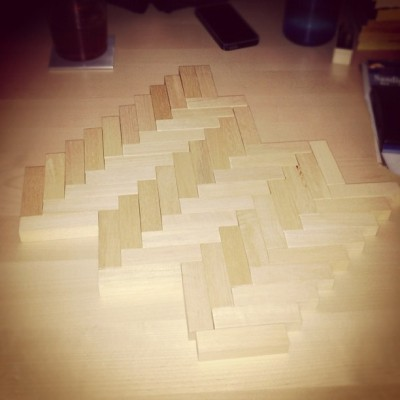 Parquet jenga (Adam's Tea House)