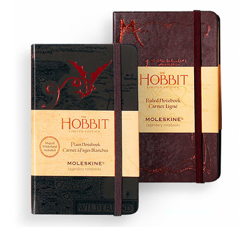 laughingsquid:  Limited Edition Hobbit Moleskine Notebooks  How nerdy would it be to get these?