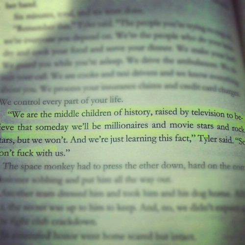 #fightclub #chuckpalahniuk #books #book #highlight #quote #chuck #quotes