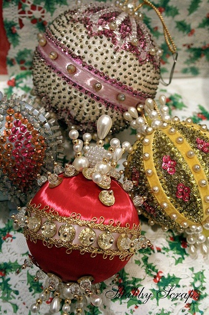 Beaded Vintage Ornaments