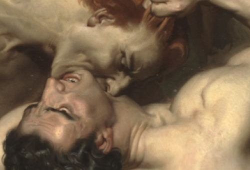 demonmarch:  Dante and Virgil in Hell (detail) by William-Adolphe Bouguere