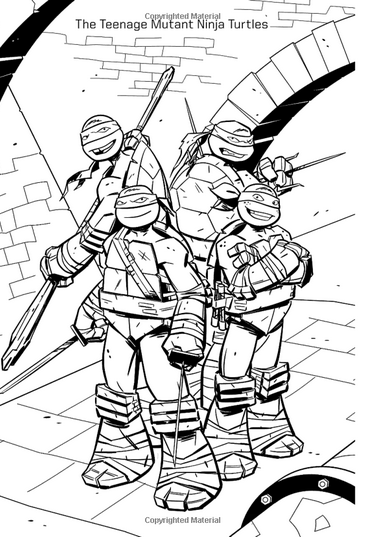 tmnt coloring pages ralph 2012 - photo#26