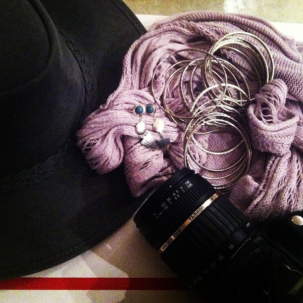 Today's accessories. That hat is washed suede from Australia I found at the Jewish Women's Cancer Relief Society thrift store in West LA. Probably one of my favorite random finds. #accessories #jewelry #bangles #turquoise #scarves #yearofthefox #thrifting #westlosangeles