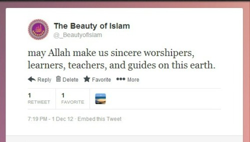Ameen [This tweet / Our Twitter]