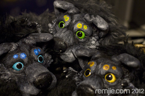 this 3 little werewolf pups will be up for sale tomorrow in my store REMJIE.COM