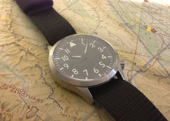 Here's a lovely gift option for someone you know - or yourself. The Maratec Mid Pilot is a very simple pilot's watch. It has a sapphire crystal (for scratch-resistance) and an automatic movement (for convenience). It's a reasonable size (39mm), and best of all, it's an exceptional price: $195. A really great everyday watch for folks who don't want to spend an arm and a leg.