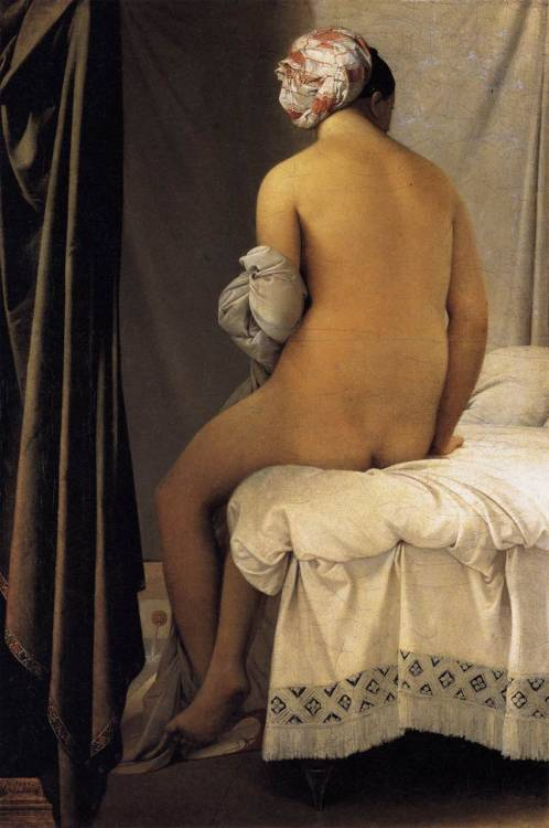suicideblonde:  The Bather (1808) by Jean Auguste Dominique Ingres