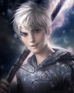 sakimichan:  Jack Frost from raise of the guardian : ) hes so cute i just had to draw him !