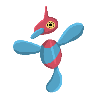 POKEDDEX MEME DAY 1 - Normal Type Porygon Z!  The idea that this whole evolution chain came from a virtual world into the Pokemon world is meta as hell. I tried.  I really did.