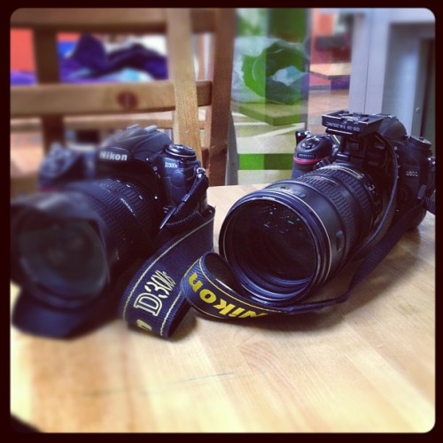 My boys are happy shooting together! #nikon #d300s #D600