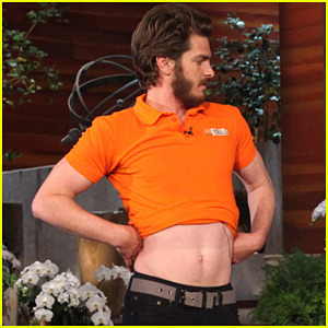 andrew garfield shows off for the lesbians