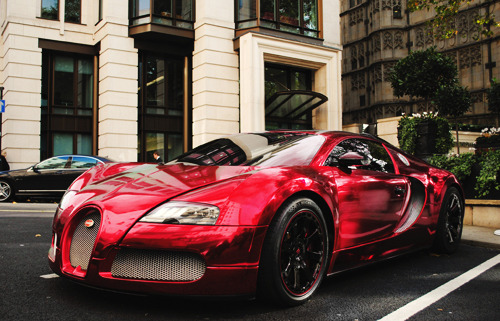 xvisualdrive:  Chrome Red Wrap - Bugatti Veyron