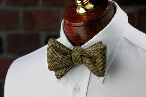 cotton high bow tie