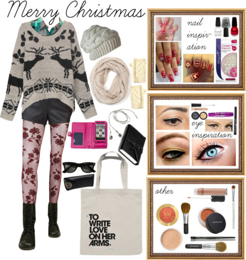 My Ugly Sweater Look…if i had those clothes… by wardrobeofmylife featuring a black mascara