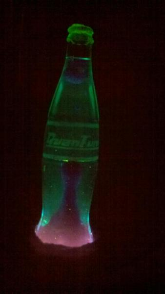 New Nuka Cola Quantum Lava Lamp label, made of awesome and etched glass