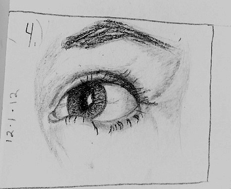 A friends eye…because  my hands wanted to.