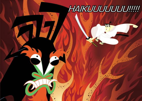 raggedyanderson:   okay so haiku rhymes with Aku and every time I read the word all I can think of is Samurai Jack angrily saying HAIKUUUUU instead of Aku and yeah so I made it   OH MY GOD CHEL YOU HAVE KILLED ME I AM DEAD I AM SLAIN GOODFUCKINGBYE   you guys I made a thing and made Mama Becky laugh c: