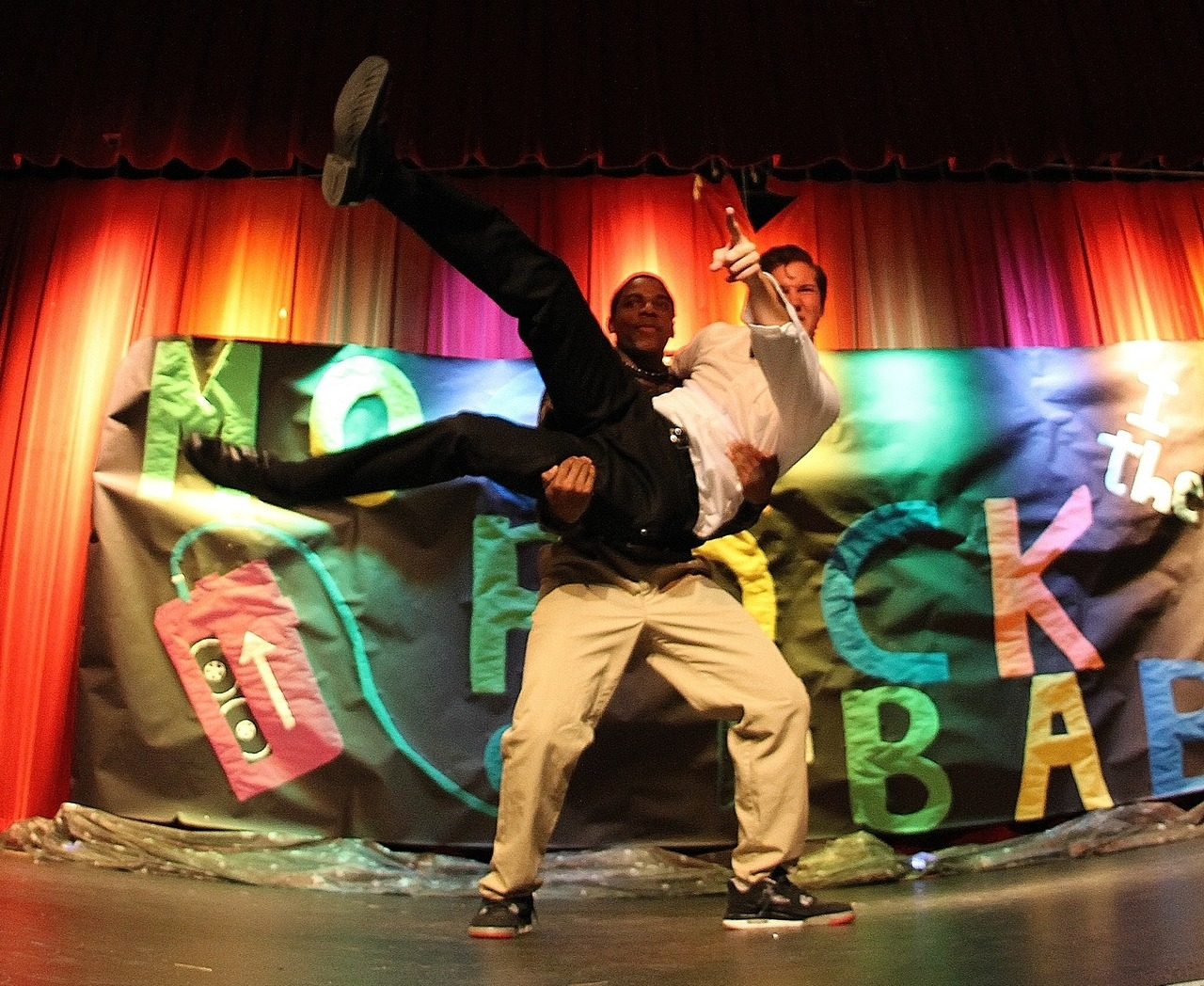 "fhntoday:  On November 30, Stuco put on their annual show called ""Mock Rock"". . This year, the performed songs were a Broadway mix, an Elvis song, a German variety, a Hairspray mix, Potter Puppet Pals, Fabulous, Boyfriend, a Lonely Island mix, Bohemian Rhapsody, and Jingle Bell Rock. When asked about performing in Mock Rock, junior Jessica Olsen said ""I had the time of my life. I haven`t gotten a rush like that that from performing on stage in years."" Olsen was in the ""Broadway mix"" group. The Hairspray mix went on to win the event as voted by the judges. Photos by Matt Krieg and Murphy Riley"