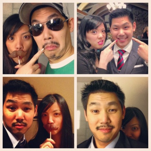 Allana & Lenny's many faces of #Movember
