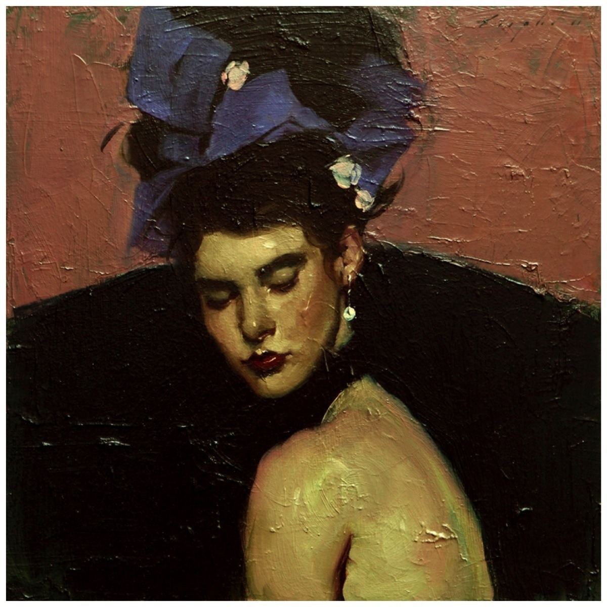 art-and-fury:  Ribbons in Her Hair - Malcolm T. Liepke