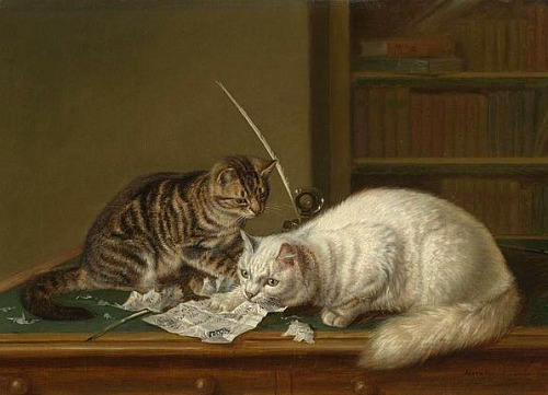 Horatio Henry Couldery A Fiver in the Kitty 19th century