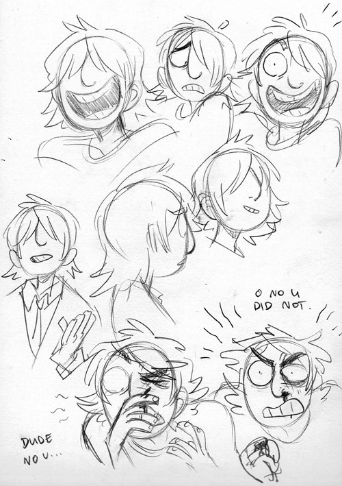 Tonight I drew some in-character Taiseis  and then I drew some out-of-character Taiseis…