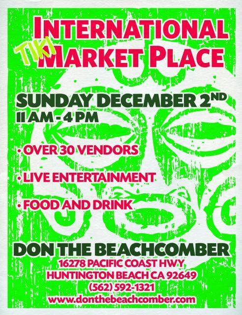 International Tiki Marketplace Don the Beachcombers Tiki tOny vending
