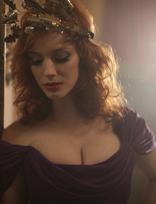 "bohemea:  Christina Hendricks for Vivienne Westwood ""Get A Life"" Palladium Jewelry Collection by Greg Williams"
