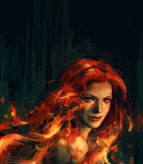 alicexz:  She was beautiful, but she was beautiful in the way a forest fire was beautiful: something to be admired from a distance, not up close. Cleaned up a WIP of War from earlier but it's still pretty messy. Eventually I'll do the rest of the Apocalyptic Horsepeople, oooor the universe will give me a Good Omens movie/show!!!