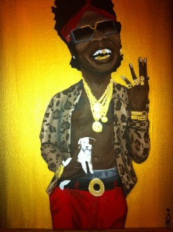 "mayashae:  Trinidad James ""All Gold Everything"" painting For Sale: http://www.etsy.com/listing/116870627/trinidad-james-in-all-gold-everything"