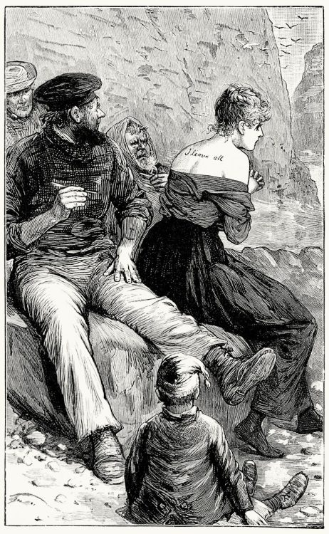 Augusta set her teeth and endured in silence.  Frontispiece from Mr. Meeson's will, by Henry Rider  Haggard, London, 1888.  (Source: archive.org)