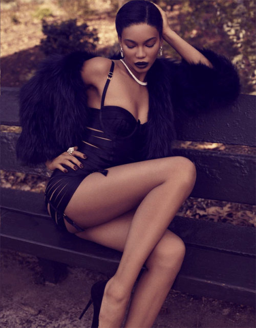 """Baby It's Cold Outside""Deluxe UK, November 2012Model ; Chanel Iman"
