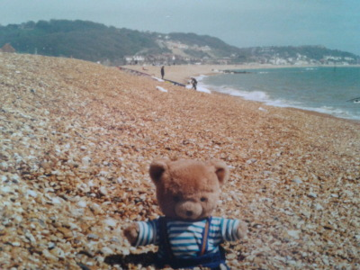 Bob the bear travels to England circa 2001