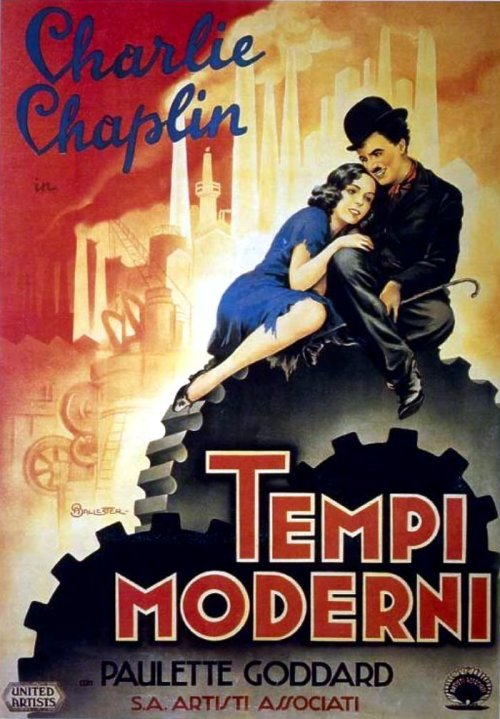 moviepostersold:  Italian poster for Modern Times (Charles Chaplin, 1936) (source)