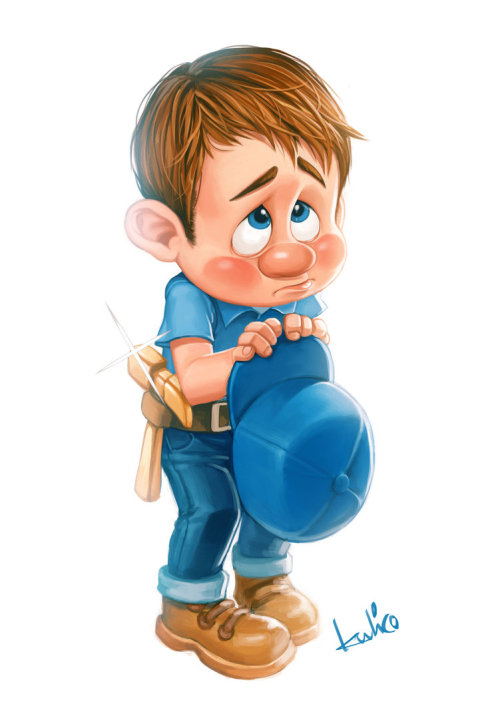 Fix it Felix jr too cute!!! I do not own this picture, from DeviantART Artist ~kulico