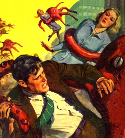 "vintagecoolillustrated:  ""The Coming of the Giant Germs"""