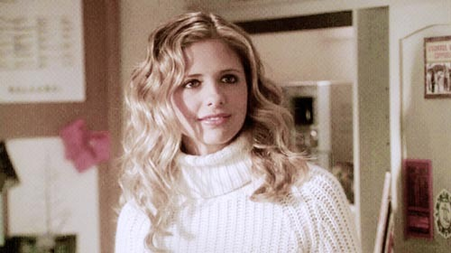 "BTVS, Ssn 4, ep. 20 ""The Yoko Factor"" Me: Why is Buffy all turtle neck and chained out? Wife: You think you're clever, don't you?"