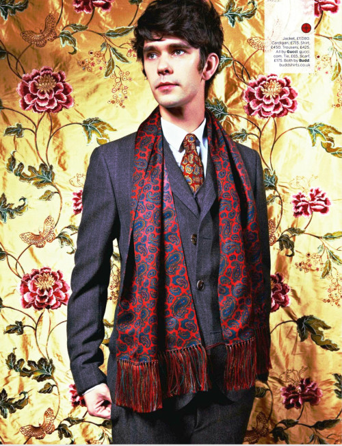 "Effie's list of flawless people→ 4. Ben Whishaw""There are certainly other things I'd like to have a go at one day. I'd like to have a go at directing. Or maybe I'll go back to painting. Or maybe thinking about those things is just my way of protecting myself if it all goes wrong."""