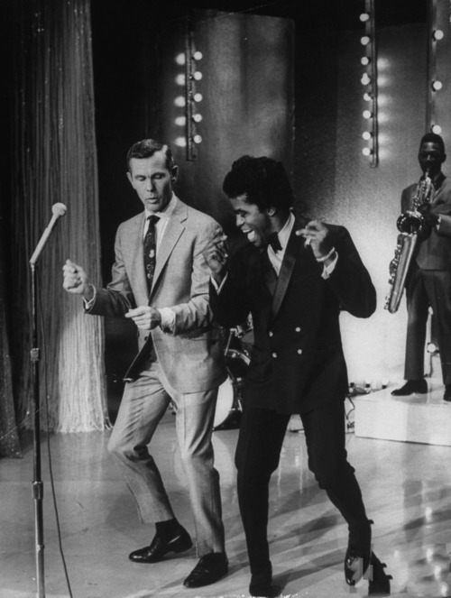 celluloidshadows:  Johnny Carson and James Brown