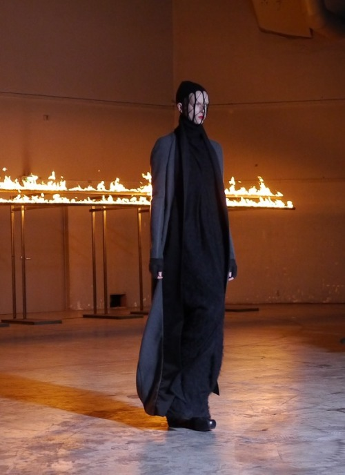 dustulator:  Alyona Subbotina at Rick Owens F/W 12  Want