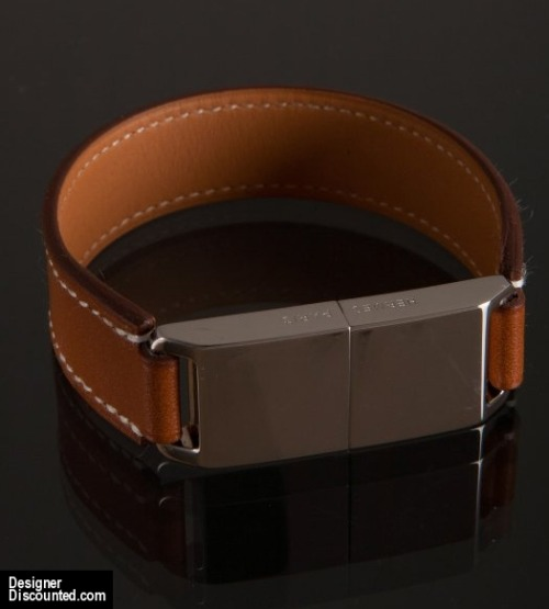 Hermes USB Flash Drive Bracelet - Brown Leather - 8GB USB Cuff - Sale! - $855.00 (10% off)