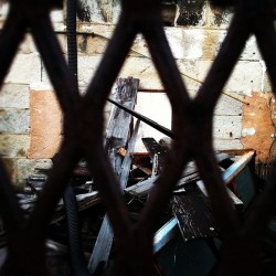 #stayout #gate #ruins  (at Eastern State Penitentiary)