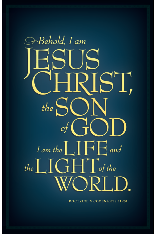 The scripture the LDS Primary Children are memorizing for December 2012.