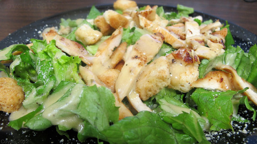Chicken Caesar salad by Coyoty on Flickr.