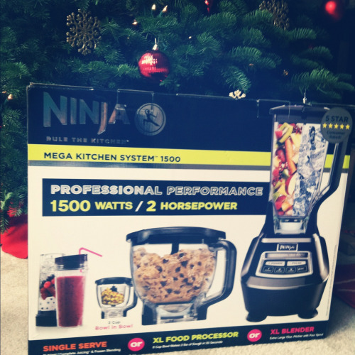 Dude. Ryan's boss got him a Ninja kitchen system. So stoked!