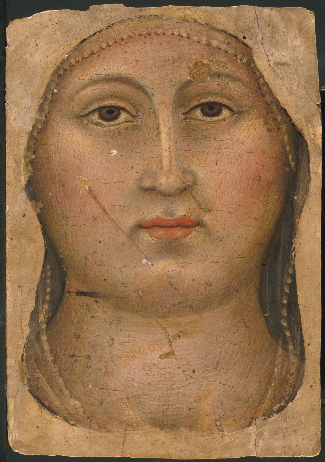 Head Of The Virgin By Taddeo Di Bartolo, Circa 1397