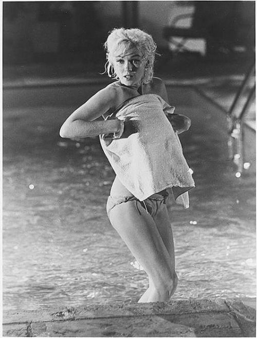 1962: Marilyn filming 'Something's Got to Give'.